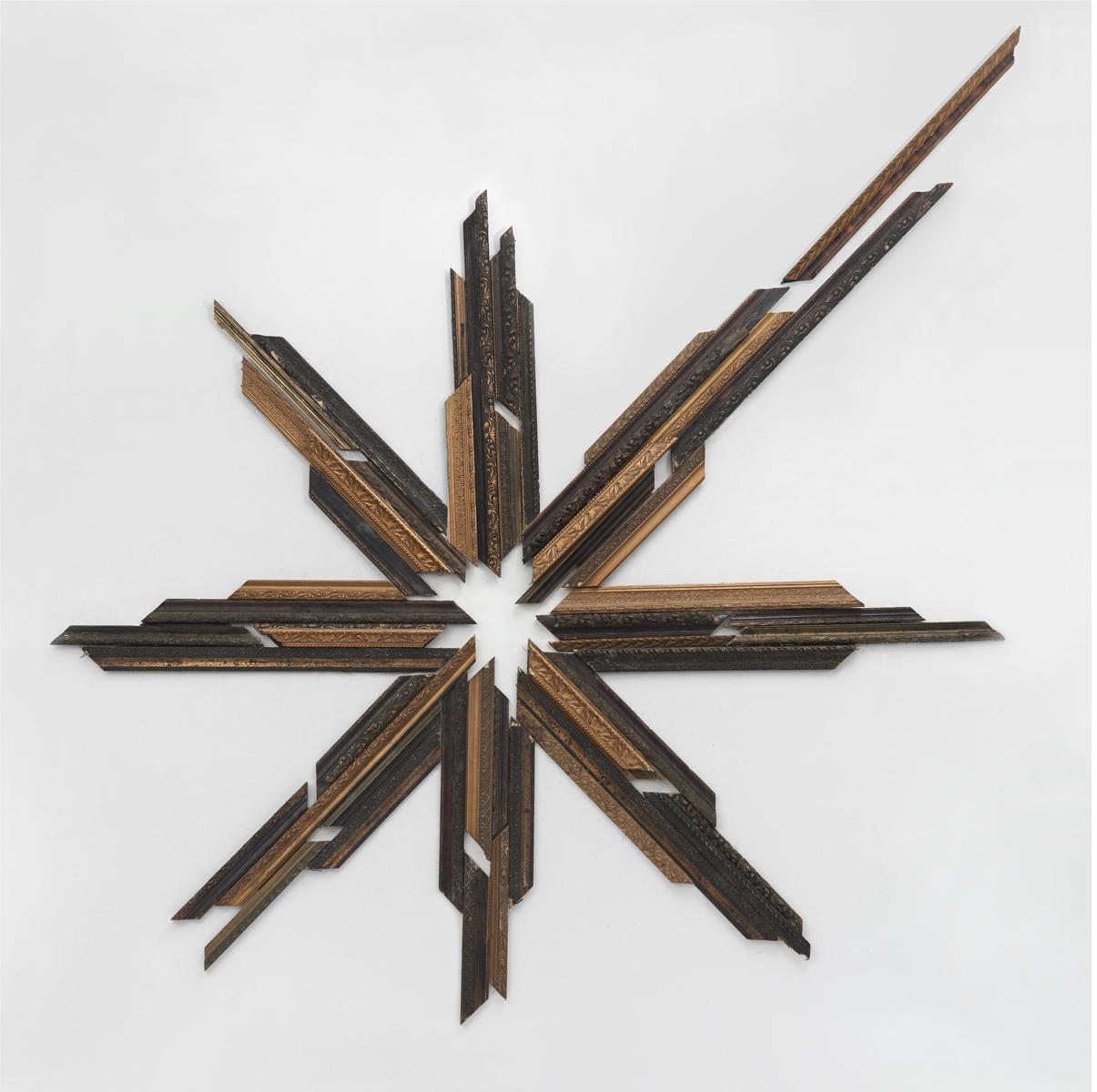 ACTUS PURUS / Radiant / 2016 / 338 x 430 x 7 cm / old frames pieces, nails