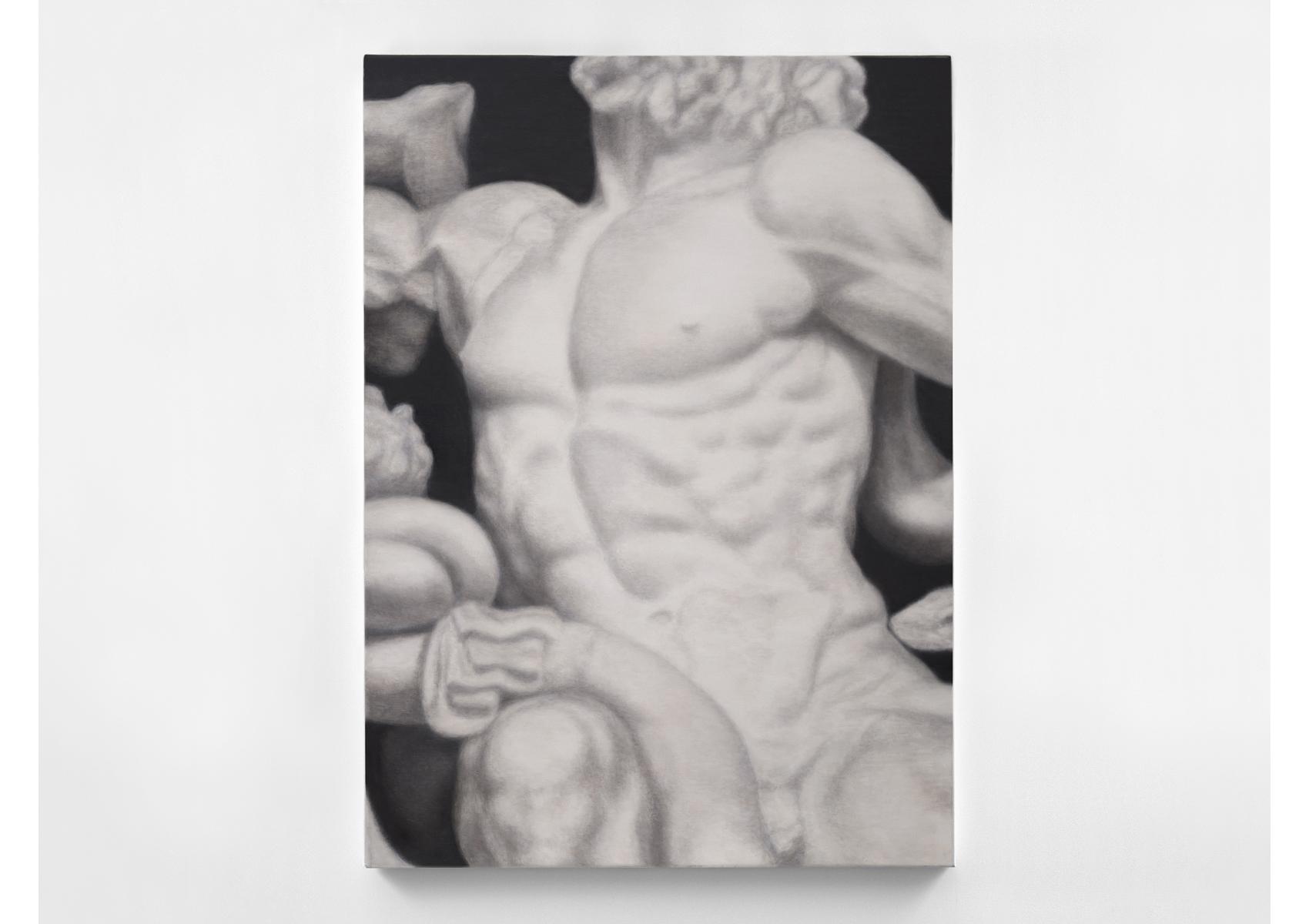 MONUMENT / Marble / 2014 / 12O x 168 x 4 cm / oil on canvas